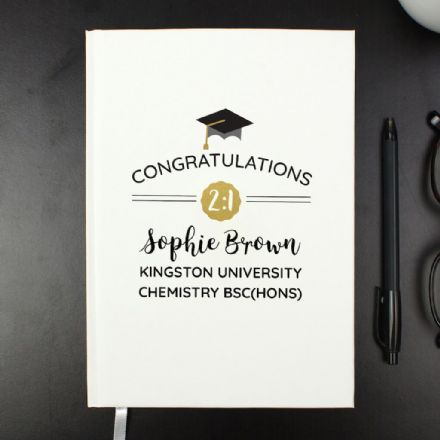 Personalised Hardback A5 Notebook -  Graduation
